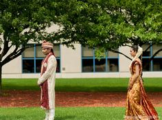 This Indian bride and groom are ready to celebrate in style with a gorgeous mandap, beautiful portraits, and a stunning reception! Wedding First Look, Indian Bride And Groom, Wedding Portraits, Reception, Weddings, Celebrities, Gallery, Beautiful, Style