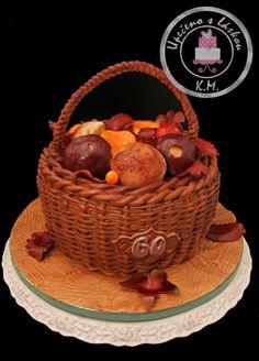Basket with Mushrooms   TUTORIAL for making basket