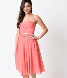 MOH/Bridesmaid---Coral Corset Back Short Dress 2016 Prom Dresses