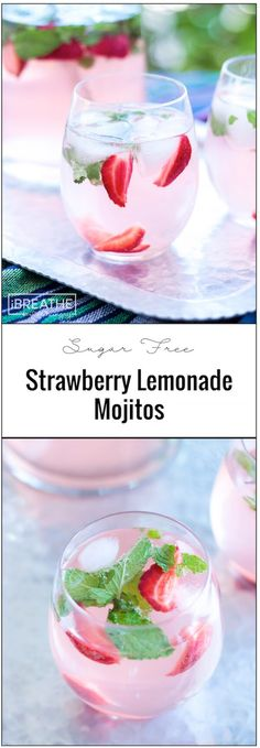 These easy and refreshing sugar free strawberry lemonade mojitos have been my go to keto cocktail all summer long! These easy and refreshing sugar free strawberry lemonade mojitos have been my go to keto cocktail all summer long! Low Carb Cocktails, Beste Cocktails, Cocktail Drinks, Fun Drinks, Yummy Drinks, Healthy Drinks, Cocktail Recipes, Easy Cocktails, Low Sugar Alcoholic Drinks