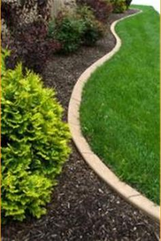 Creative Ideas For Landscape Borders is part of lawn Edging Mulch - This guide is contains creative ideas for landscape borders Choosing the perfect edging for your yard can make lawn care easier Concrete Edging, Brick Garden Edging, Lawn Edging, Driveway Edging, Landscape Borders, Garden Borders, Landscape Fabric, Garden Shrubs, Lawn And Garden
