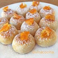 mazapan-de-naranja Mini Desserts, Sweet Desserts, Marzipan, Cop Cake, Cake Recipes, Dessert Recipes, Cuban Cuisine, Pizza Cake, Coconut Cookies
