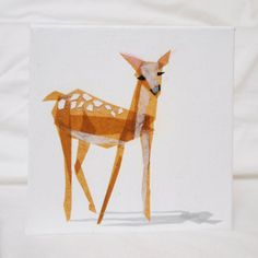 TinyFawn Collage - Fawn by all things paper, via Flickr