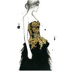 Watercolor Fashion Illustration - McQueen Moment print