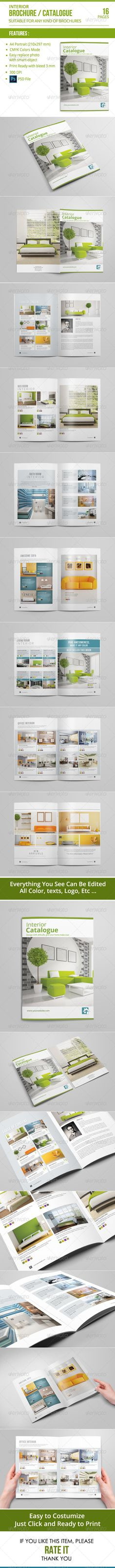Catalogue / Brochure by adekfotografia Catalogue / Brochure This 14 page minimal brochure template is for designers working on interior design catalogues, product catalo