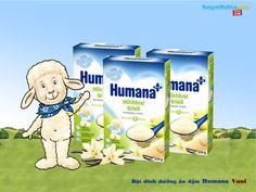 Bột sữa dinh dưỡng ăn dặm Humana Vani (250g) dành cho trẻ sau 4 tháng tuổi trở lên. Giá: 106,000đ