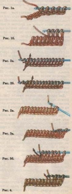 Тунисское вязание крючком