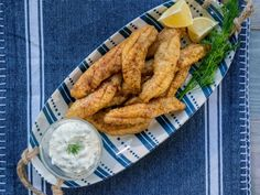 Food network recipes 694469205025501866 - Fried Fish with Dill Tartar Sauce – Recipe from Food Network: Delicious Miss Brown Tarter Sauce, Fish Dishes, Seafood Dishes, Fish And Seafood, Main Dishes, Seafood Salad, Sauce Recipes, Fish Recipes, Snacks