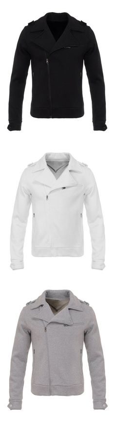 Only $35.99!This is a very fashionable men's slim jacket, features zipper decorative,shoulder strap and several zipper pocket.Here plus a certain warmth inside the thermal effect,It's very suitable for autumn and winter wear, you can wear it at work,leisure,parties and other occasions, Now Free Shipping & Easy Return. Search more fashion clothing at vogueclips.com