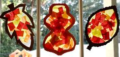 Fall Craft for Toddlers and Preschoolers: Leaf Sun Catcher from Fantastic Fun & Learning