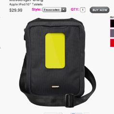 """Cocoon Gramercy iPad/iPhone messenger bag with """"grid it"""" insert.  Can't wait to try it out!"""