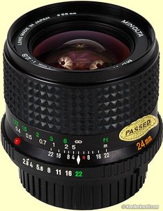 Minolta MD W.Rokkor-X 24mm f/2.8 with floating lens elements (crc.) A lens so good, Leica used it's optical design for years for their R series.
