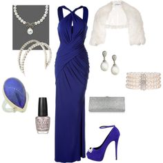 You know, if I was a millionaire celebrity.  Total cost: $16,607 glam purple diamond pearl silver dress jacket ankle strap pump clutch headband polish
