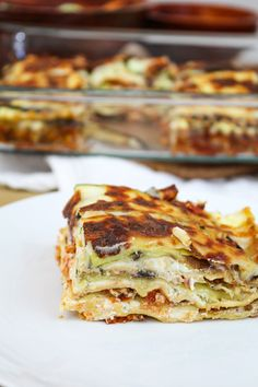 Zucchini and Eggplant Banza Lasagna Eggplant Zucchini, Eggplant Lasagna, Zucchini Lasagna, Baked Pasta Dishes, Baked Pasta Recipes, Family Meal Planning, Family Meals, Cream Cheese Lasagna, White Eggplant