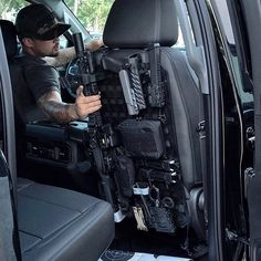 Tactical Truck, Tactical Gear, Car Holster, Rifle Rack, New Car Accessories, Overland Gear, Weapon Storage, Bug Out Vehicle, Tac Gear