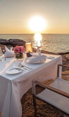 Dinner on the beach in Phuket, Thailand