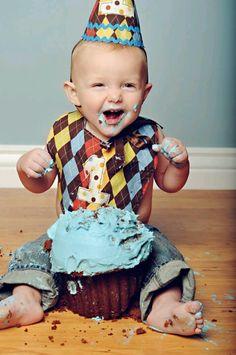 1st birthday smash cake pic idea