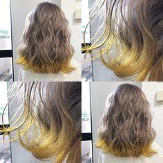 """小坂 龍太 /SHACHU on Instagram: """"シルキーブロンド×ネオンイエロー✨✨✨ . . 巻いてもまとめても可愛い裾カラー😍😍イエローも人気だよ😆😆 . . 予約はDM、LINE、ホットペッパーどれからでもOK😉😉 . . .…"""" Hair Inspo, Hair Inspiration, Hairstyles Haircuts, Cool Hairstyles, Pretty Hair Color, Love Hair, Hair Day, Hair Lengths, Hair Trends"""