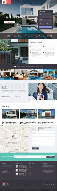 Estate is a stylish WordPress #theme crafted for a #realestate agent or broker and property rental/sales agencies #website. Download Now!