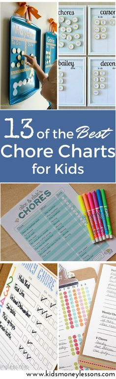 13 of the Best Chore Charts for Kids: Chores are a great way to teach kids responsibility, independence, and self-sufficiency. Getting started with kids assigned chores can be challenging, but getting organized can help. Use one of these chore charts for kids to get started.