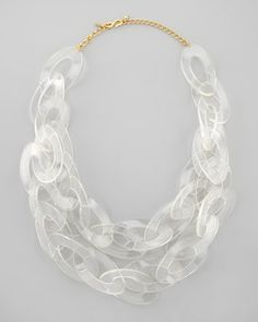 clear lucite chain link necklace // Kenneth Jay Lane #necklace #lucite
