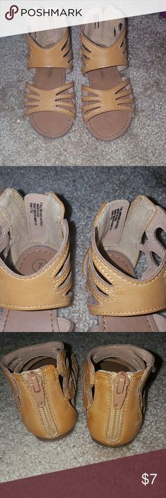 Tan toddler sandals Tan Cherokee toddler sandals size 7. In great used condition. Comes from pet free and smoke free home. Cherokee Shoes Sandals