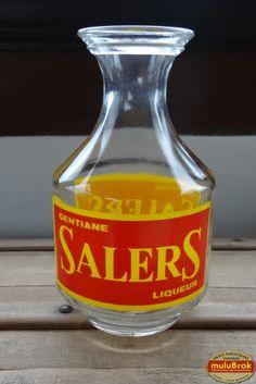 Objet Pub ... Carafe SALERS Liqueur à la gentiane ... chez muluBrok !