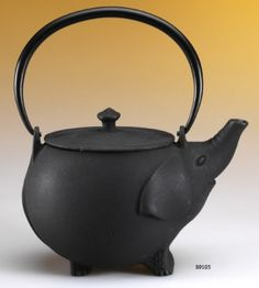Tetsubin Black Cast Iron Elephant Tea Pot.