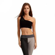 c72041b803ef6 Yoga Wear · - Available in Black and Red - Breathable - Mesh Cut Out - One  Shoulder Mesh