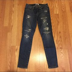 PAIGE Denim LIKE NEW! Paige Verdugo Ulta Skinny distressed plaid jeans. Paige Jeans Jeans Skinny