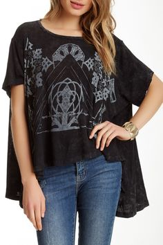 Free People | Circle In The Sand Linen Blend Tee | Nordstrom Rack