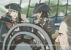 Haytham: How did you become a captain this way?  Connor: Despair, silence. :/