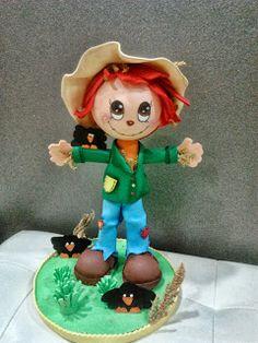 Fofucha espantapájaros/foamy scarecrows