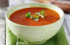 This tomato soup is so rich and thick you'll swear it's laden with cream and butter. The trick is really good tomatoes.