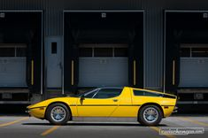 1972 Maserati Bora, produced under Citroën ownership, design Giorgietto Giugiaro Supercars, Maserati Sports Car, Maserati Bora, Automobile, Classic Car Insurance, Yellow Car, Best Muscle Cars, Car In The World, Vintage Cars