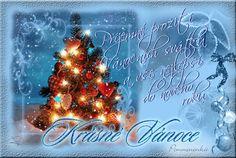 Vánoční přání - Obrázková přání Christmas Images, Christmas Wishes, Merry Christmas, Christmas Ornaments, Animation, Holiday Decor, Weaving, Merry Little Christmas, Christmas Printables