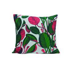 Large Calathea Cushion - Neon, Fanny Shorter – CultureLabel
