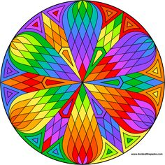 Lattice mandala to color: Shala has a vast number of exquisite mandalas available on her website as coloring pages.