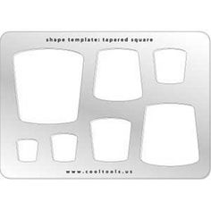 Jewelry Shape Template - Tapered Square