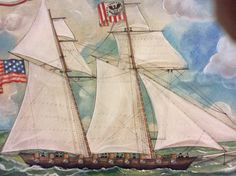 Kolene Spicher Original Ship Painting - Coast Guard Cutter Part 2