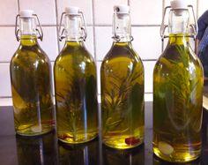 Krydderurteolie Infused Oils, Tapas, Food And Drink, Drinks, Bottle, Dressing, Sauces, Inspiration, Syrup