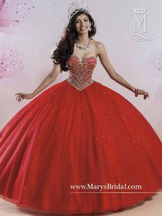 Mary's Bridal Princess Collection Quinceanera Dress Style 4Q408