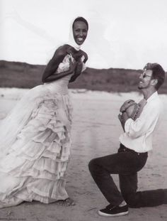 I have a handful of celebrity obsessions, and Iman is high on that list; [Iman and David Bowie by Bruce Weber, Angela Bowie, Interracial Couples, Interracial Wedding, Iman And David Bowie, Iman Bowie, Duncan Jones, Karl Otto, The Thin White Duke, Bruce Weber
