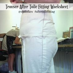 Trouser Toile Fittings Using my Trouser Block (download) #wellsuitedblog #patternpuzzles #creativepatternmaking #sewingpatterns #vintagepatterns #PDFsewingpatterns #digitalgarmentblocks #plussize #studiofaro #patternmakinginstructions #patternmakingworksheets