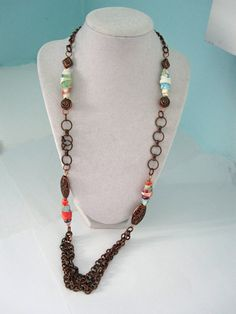 Copper Chain Necklace  by playsculptlive, $55.00
