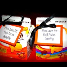 Favors for Elmo themed birthday party