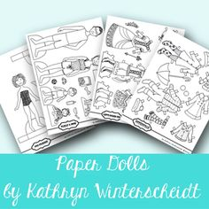 Delightfully hand drawn paper dolls printable with six girls, nine family members and pets, and over one hundred clothing options and accessories. Six Girl, Scarlett O'hara, Paper Dolls Printable, Learning Courses, Favorite Pastime, Pajama Party, Imaginative Play, Pet Clothes, Fine Motor Skills