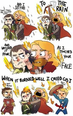 Thor singing Adel lol