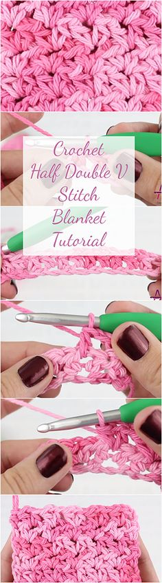 Crochet Half Double V Stitch Blanket Tutorial
