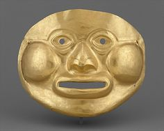 Funerary Mask,gold,Calima culture  Colombia,Calima Valley region  5th-1st century BCE